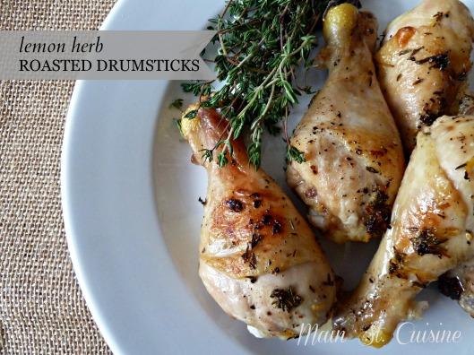 lemon herb roasted drumsticks