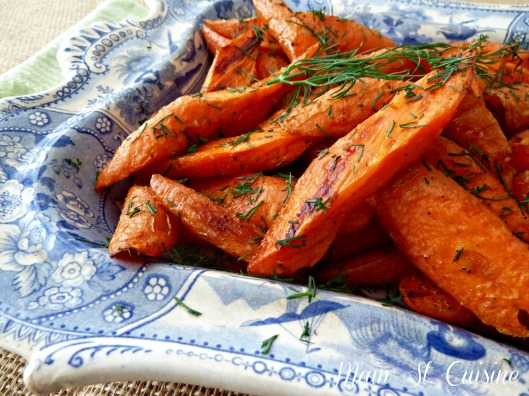 roasted carrots finished with fresh dill