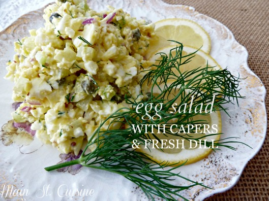 egg salad with capers and fresh dill