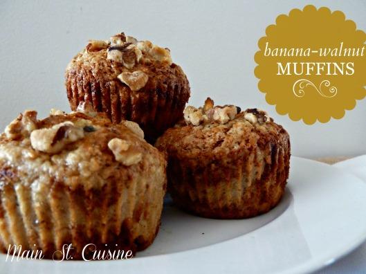 banana walnut muffins how to