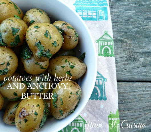 potatoes with herbs and anchovy butter