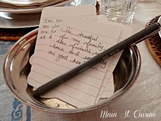 expressing thankfulness on thanksgiving