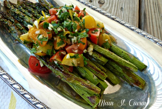 roasted asparagus with fresh tomato salsa